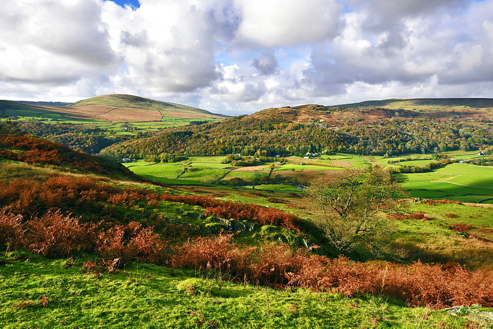 An autumn view of the scenic Duddon Valley.