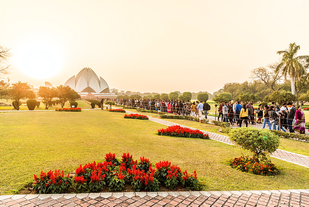 December 2018 Sunset at the Lotus Temple, New Delhi, India
