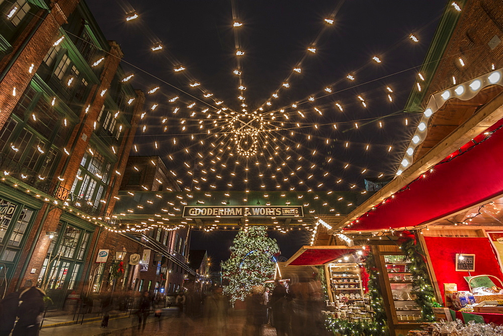 Toronto Christmas Market at the Distillery district, Toronto, Ontario, Canada, North America