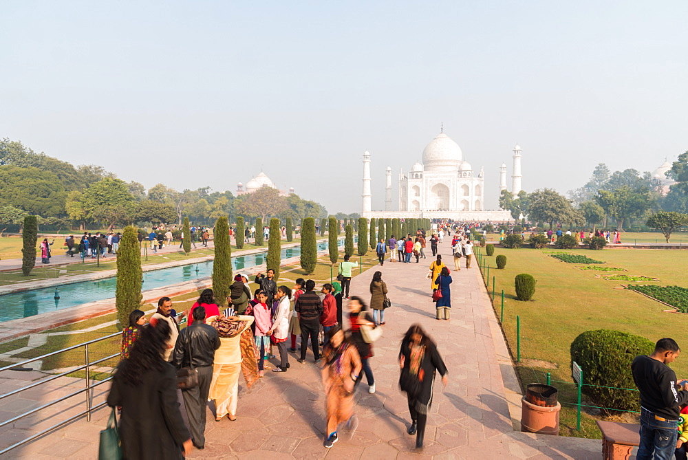 The Taj Mahal, UNESCO World Heritage Site, Agra, Uttar Pradesh, India, Asia