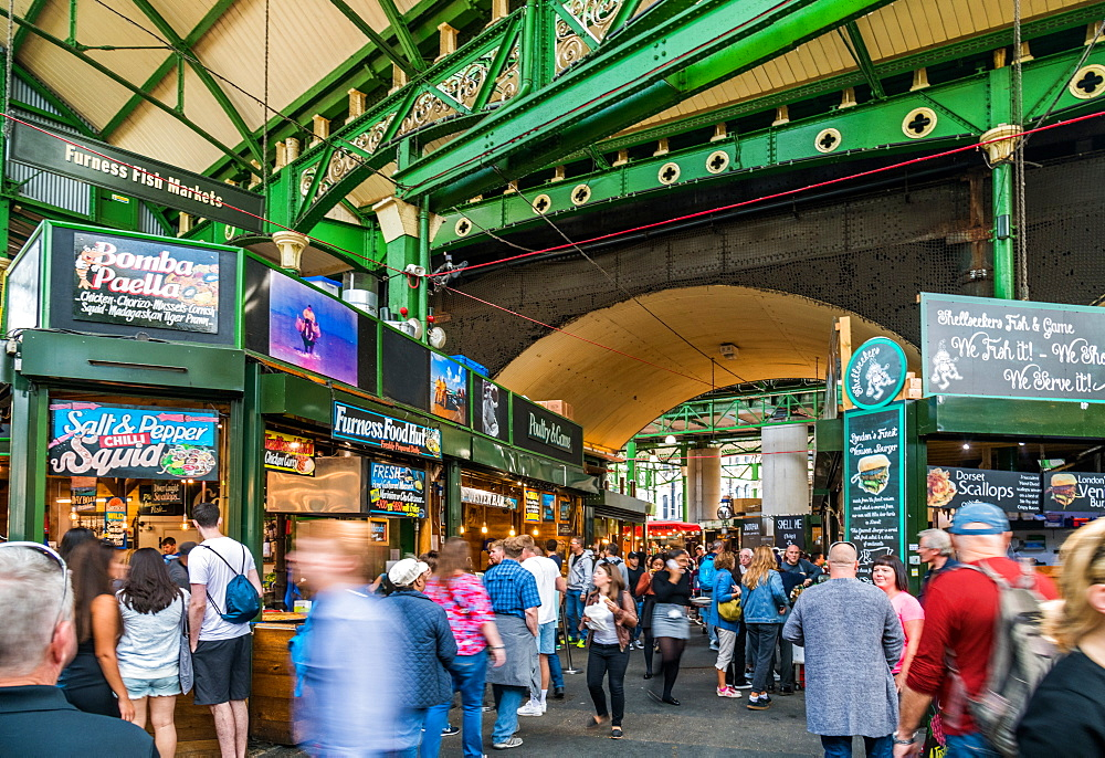 Borough Market is bustling with shoppers, Southwark, London Bridge, London, England, United Kingdom, Europe