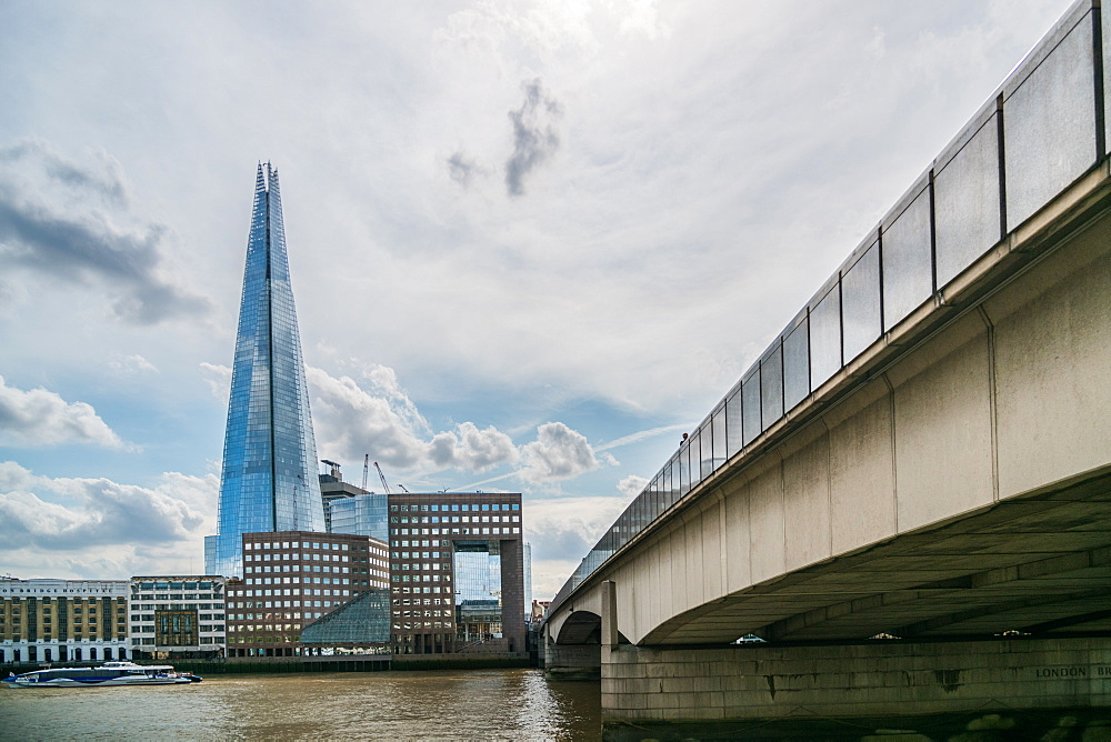 Summer 2018 The Shard, London Bridge and The River Thames, London, England.