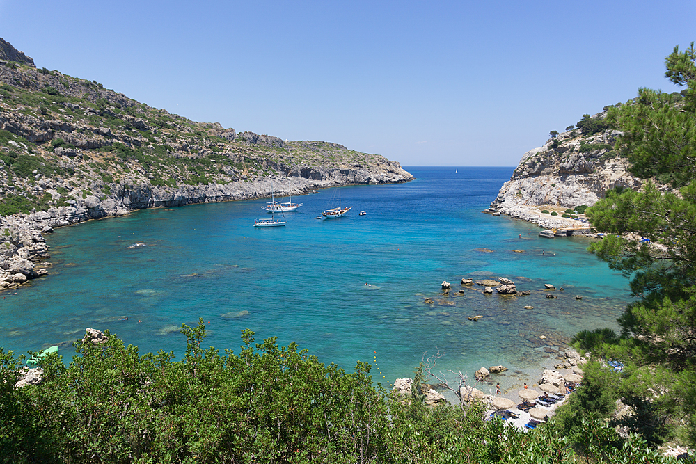 Anthony Quinn Bay, Rhodes, Dodecanese, Greek Islands, Greece, Europe - 1247-215