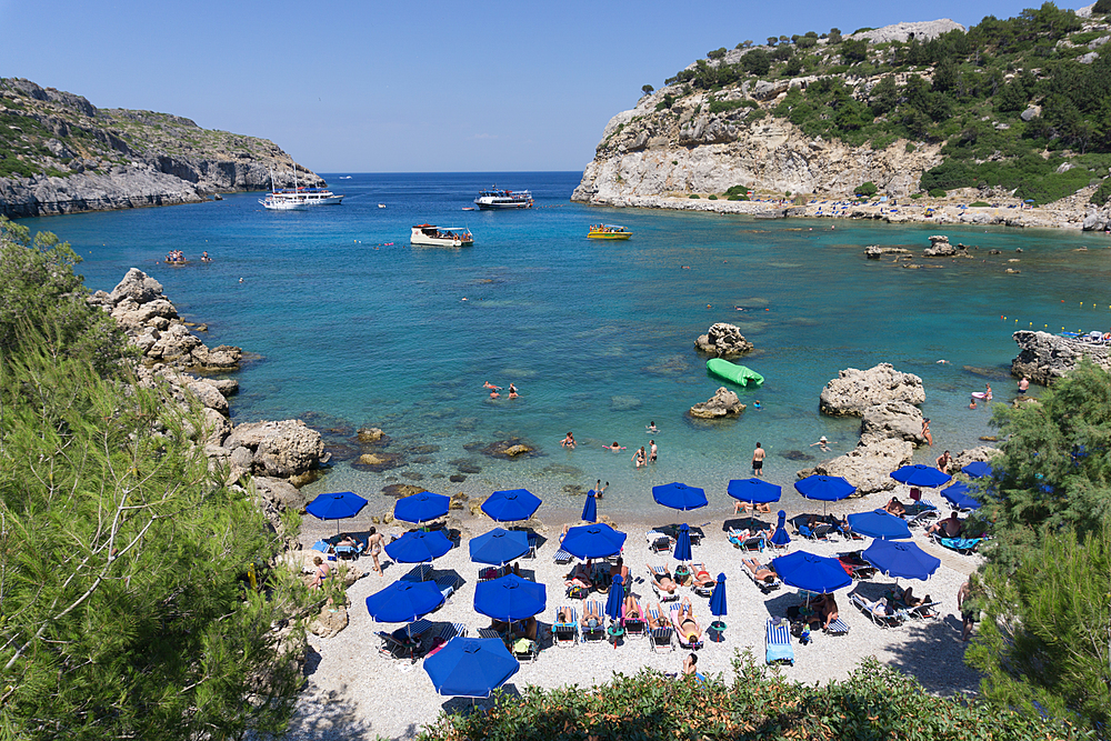 Anthony Quinn Bay, Rhodes, Dodecanese, Greek Islands, Greece, Europe - 1247-216