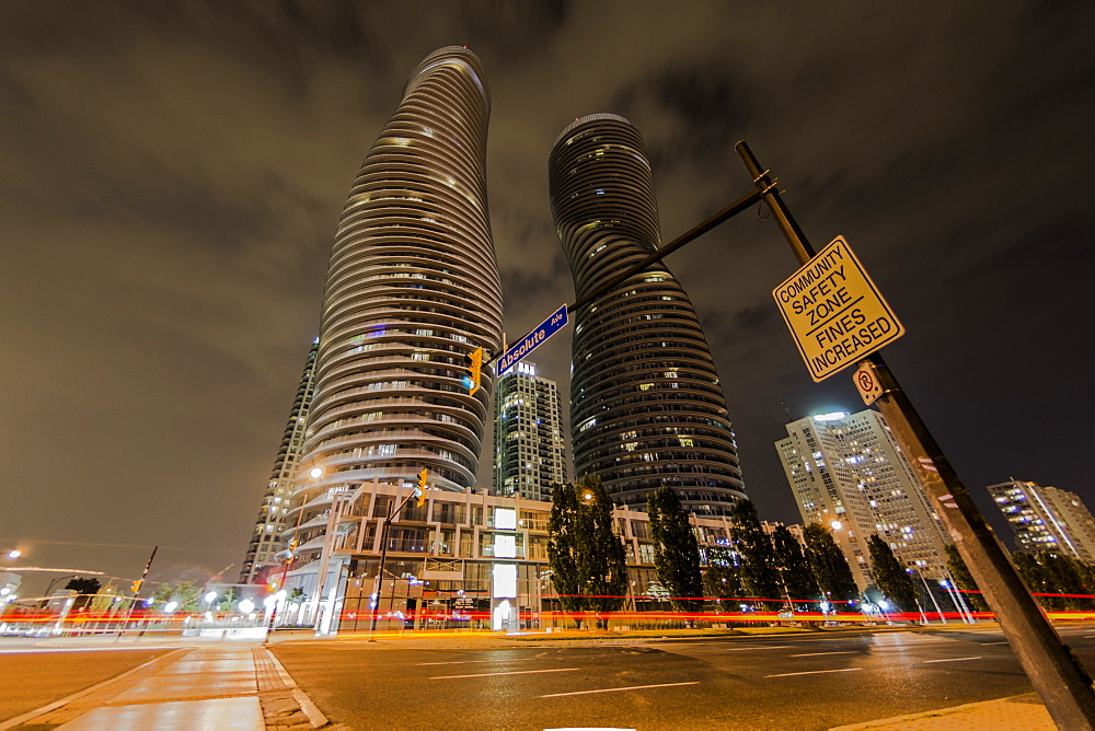 The Absolute Tower, Marilyn Monroe buildings in Mississauga, Ontario, Canada, North America - 1247-23