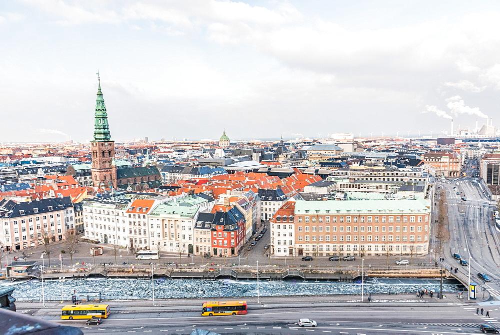Elevated view of Copenhagen, Denmark, Scandinavia, Europe - 1247-66