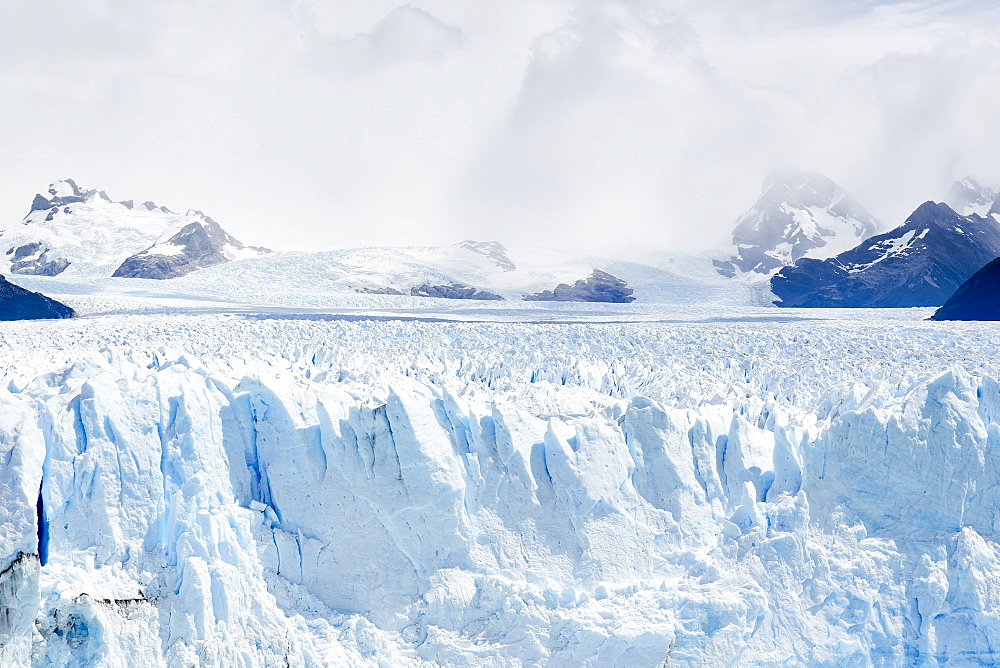 Detail of Perito Moreno Glacier in the Parque Nacional de los Glaciares (Los Glaciares National Park), UNESCO World Heritage Site, Patagonia, Argentina, South America