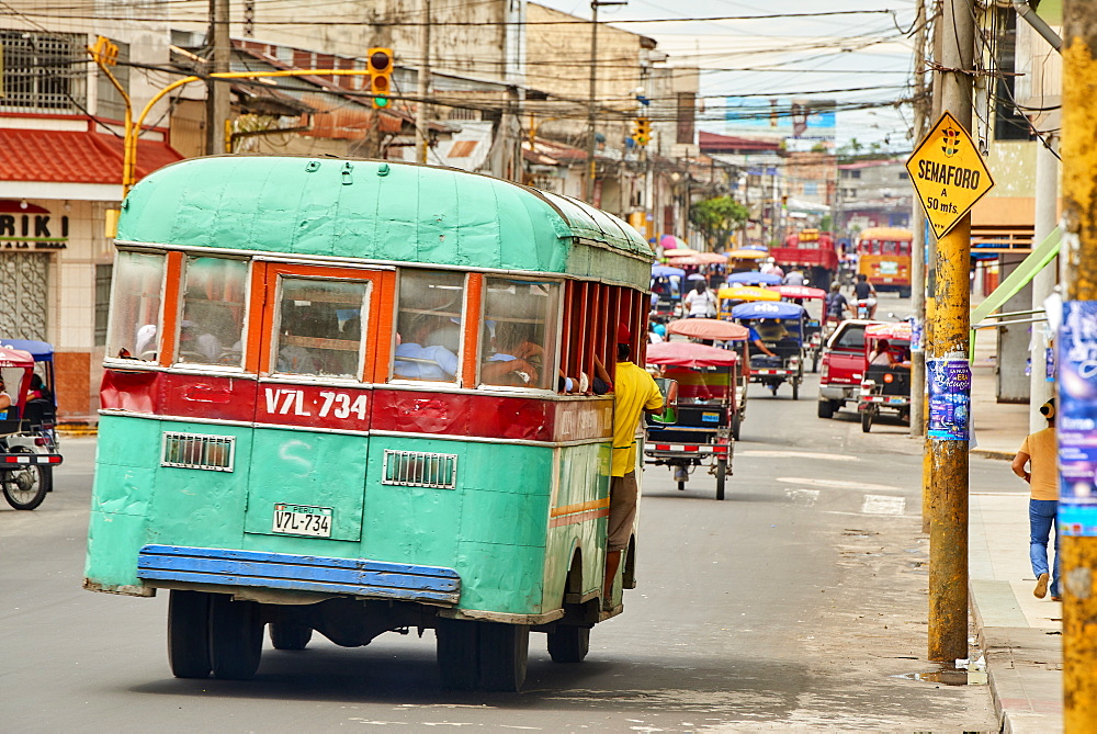 Bus in Iquitos, Peru, South America