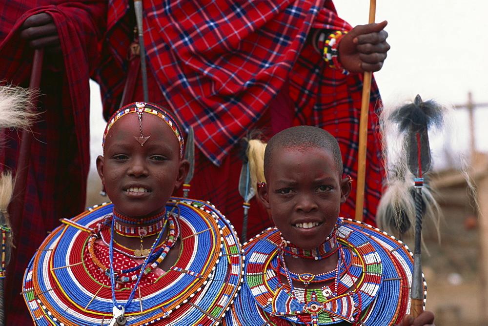 Masai tribe, Amboseli, Kenya, East Africa, Africa - 125-340