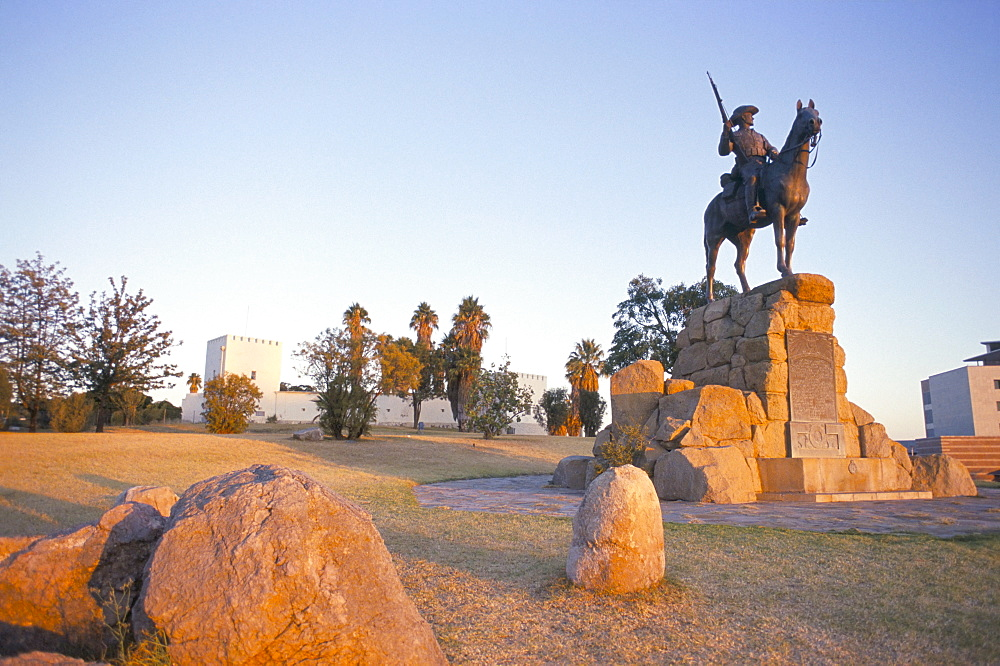 The Rider Memorial dating from 1912, Alte Fest (Old Fort), Windhoek, Namibia, Africa