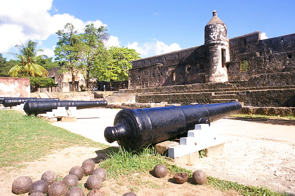 Fort Jesus, built between 1593 and 1596 by the Portuguese, Mombasa, Kenya, East Africa, Africa