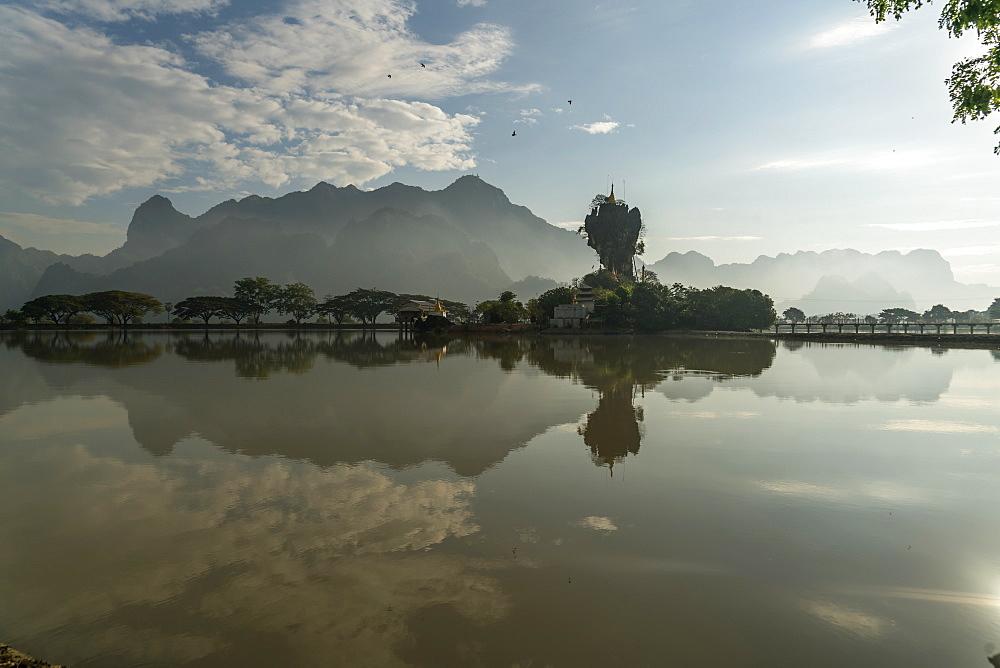 Kyauk Ka Lat Pagoda, Hpa An, Myanmar (Burma), Asia - 1250-1