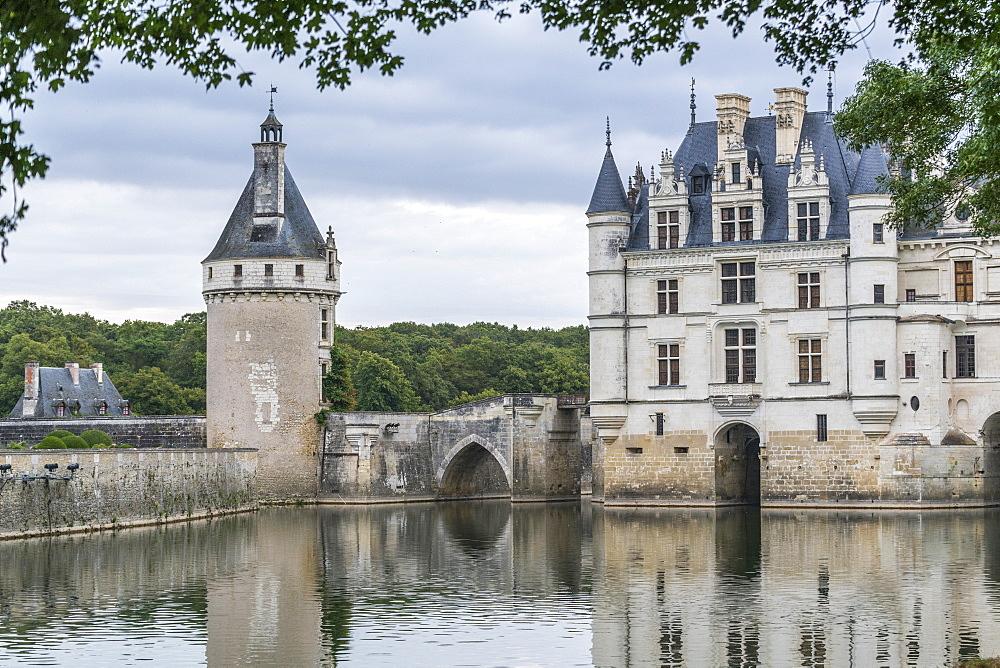 Detail of Chenonceau castle, UNESCO World Heritage Site, Chenonceaux, Indre-et-Loire, Centre, France, Europe