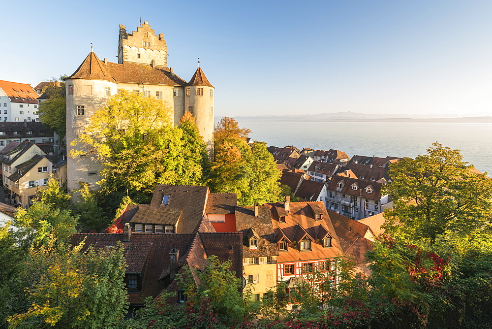 Old Castle from an elevated point of view, Meersburg, Baden-Wurttemberg, Germany, Europe - 1251-422