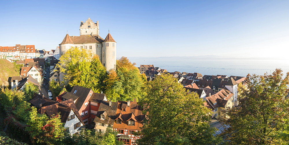 Old Castle from an elevated point of view, Meersburg, Baden-Wurttemberg, Germany, Europe - 1251-427