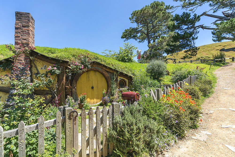 Samwise Gamgee's house, Hobbiton Movie Set, Matamata, Waikato region, North Island, New Zealand, Pacific