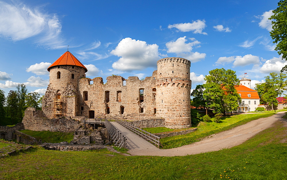 Ruins of old castle in Cesis, Latvia, Europe