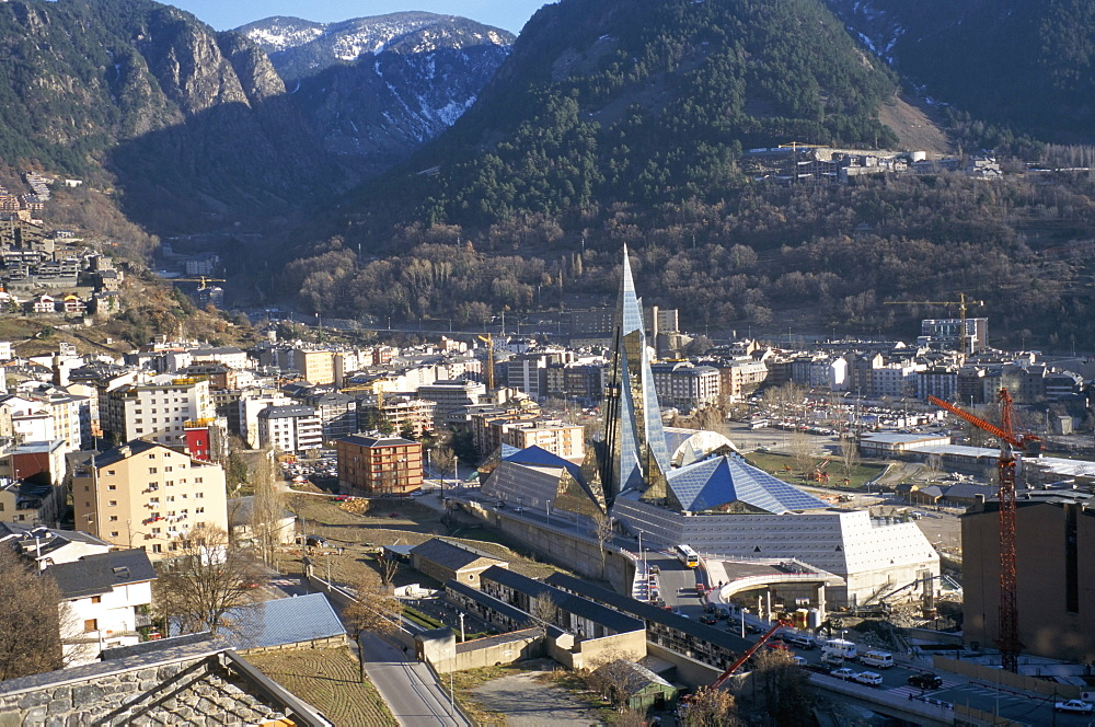 Engordany district and new sports complex, La Vella, Andorra, Europe