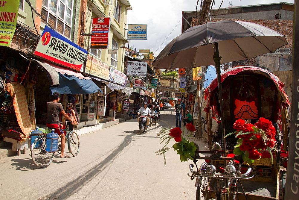 Rickshaws on the streets of Kathmandu, Nepal, Nepal, Asia - 1262-123