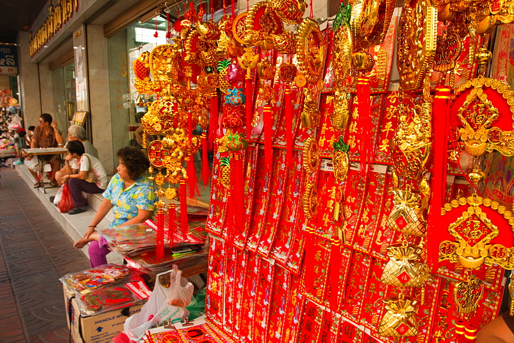 Chinese New Year lucky charms, China Town, Bangkok, Thailand, Southeast Asia, Asia - 1262-136
