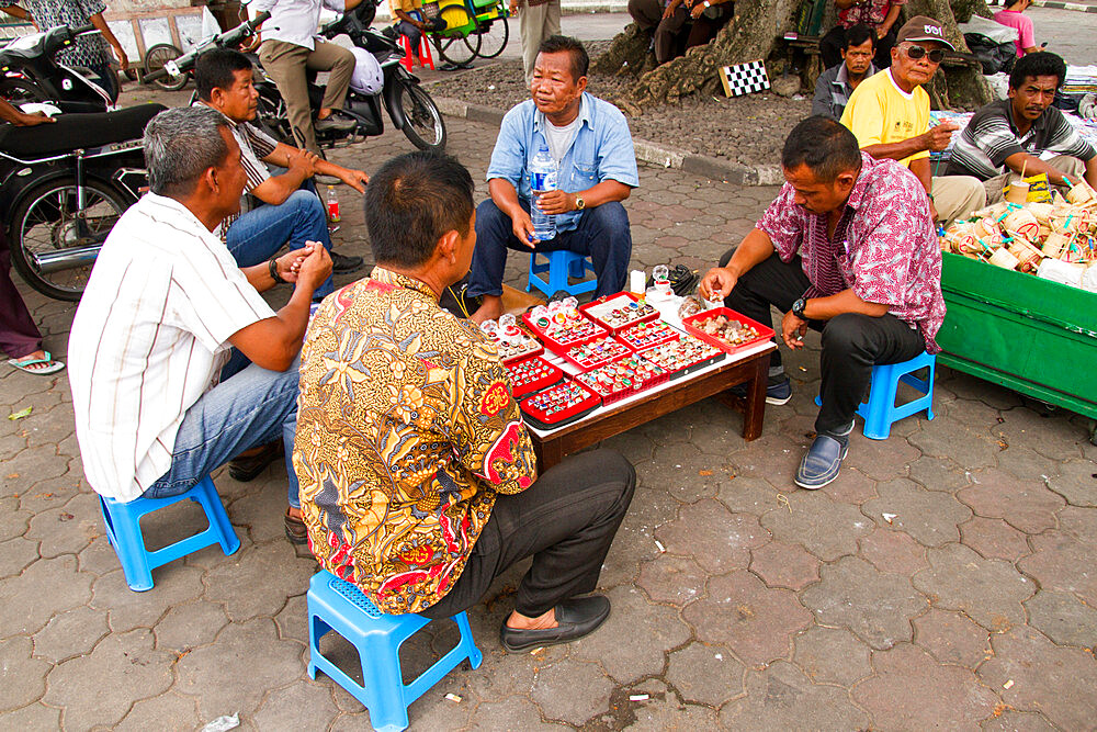 Men selling rings on the streets of Yogyakarta, Indonesia - 1262-159