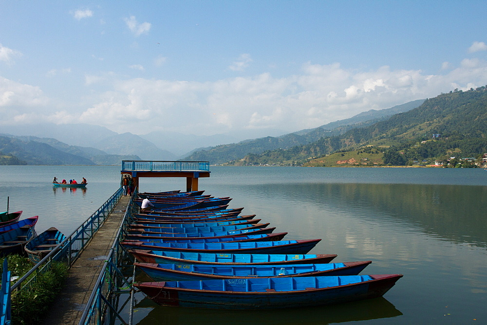 Boats on Phewa Lake, Pokhara, Nepal, Asia - 1262-183