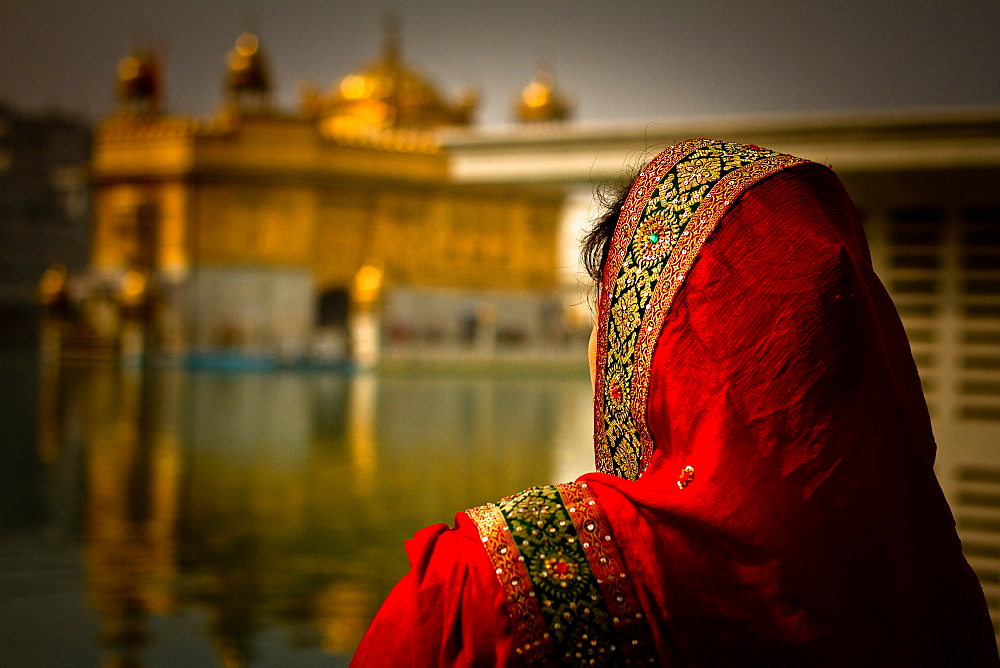 Sikh woman devotee of The Golden Temple of Amritsar, Punjab, India, Asia - 1262-22