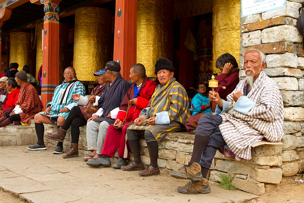 The Memorial Stupa and Buddhist devotees, Thimphu, Bhutan - 1262-72