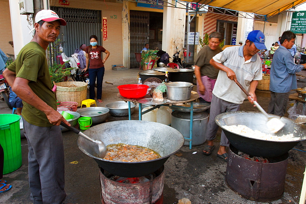 Street food of Kampot, Cambodia, Indochina, Southeast Asia, Asia