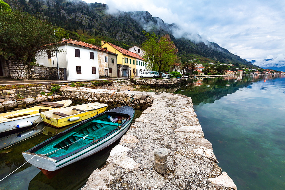 The village of Muo which faces Kotor across the bay, Montenegro, Europe
