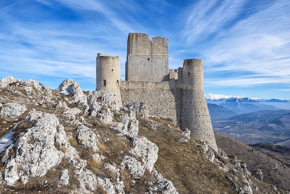 Rocca Calascio Castle, Gran Sasso e Monti della Laga National Park, Abruzzo, Italy, Europe - 1264-177