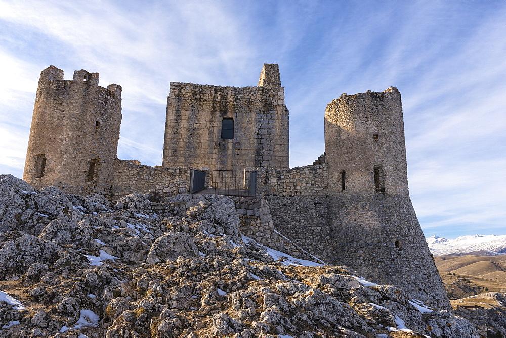 Rocca Calascio Castle, Gran Sasso e Monti della Laga National Park, Abruzzo, Italy, Europe - 1264-179
