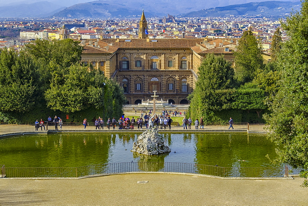 Palazzo Pitti and Boboli Gardens, UNESCO World Heritage Site, Florence, Tuscany, Italy, Europe