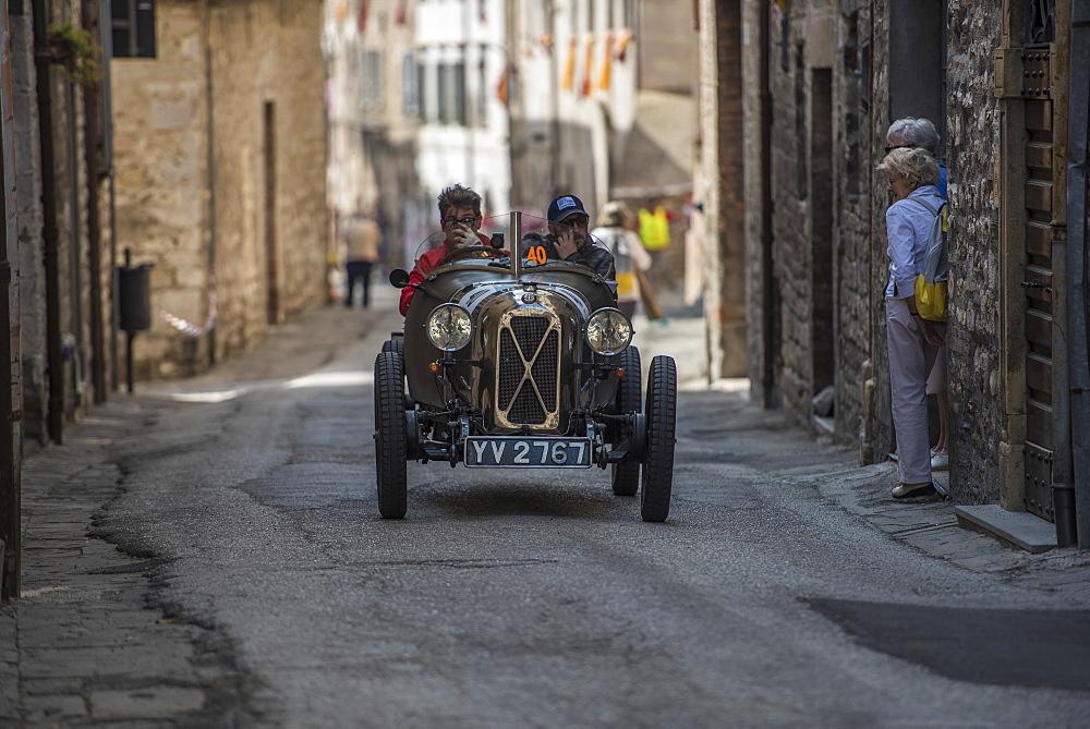 Italy, Umbria, Gubbio, Mille Miglia
