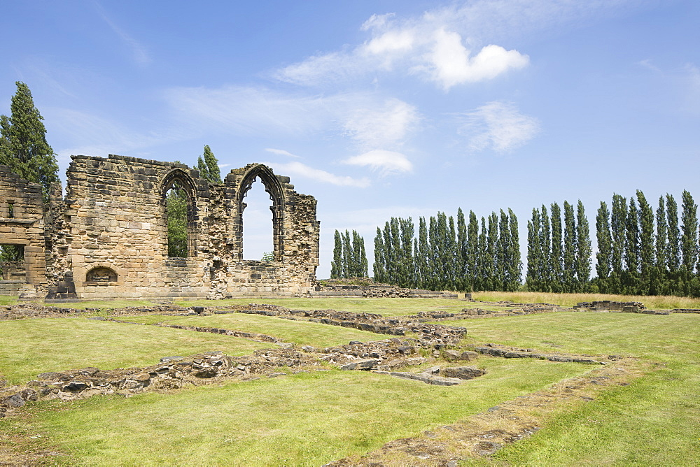 The ruins of Monk Bretton Priory, a Cluniac monastery founded in 1154 at Monk Bretton, Barnsley, South Yorkshire, England, United Kingdom, Europe - 1266-22