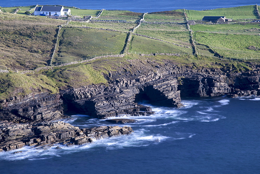 Cliffs and caves along the Wild Atlantic Way at Muckross Head, County Donegal, Ulster, Republic of Ireland, Europe - 1266-39