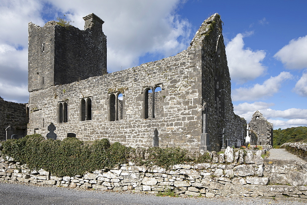 The ruins of Creevalea Abbey, County Leitrim, Republic of Ireland - 1266-52