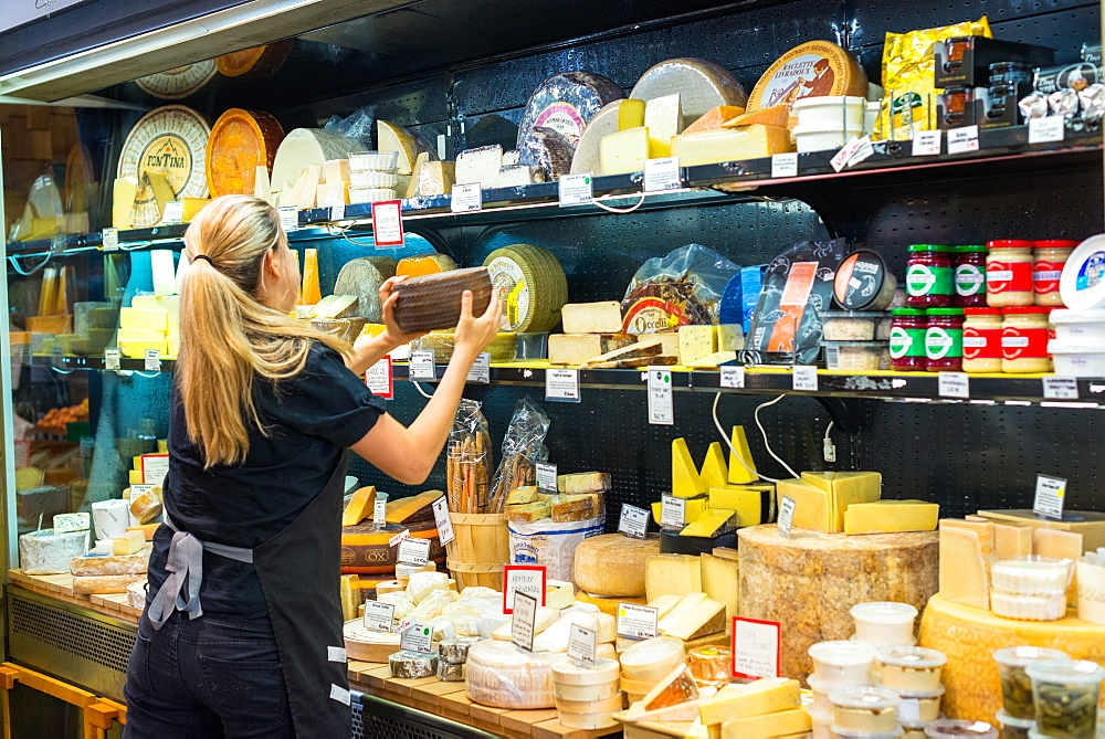 Cheese for sale at Adelaide Central Market, South Australia, Australia, Pacific