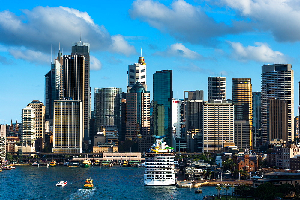 Sydney city skyline with Circular Quay, Sydney, New South Wales, Australia, Pacific
