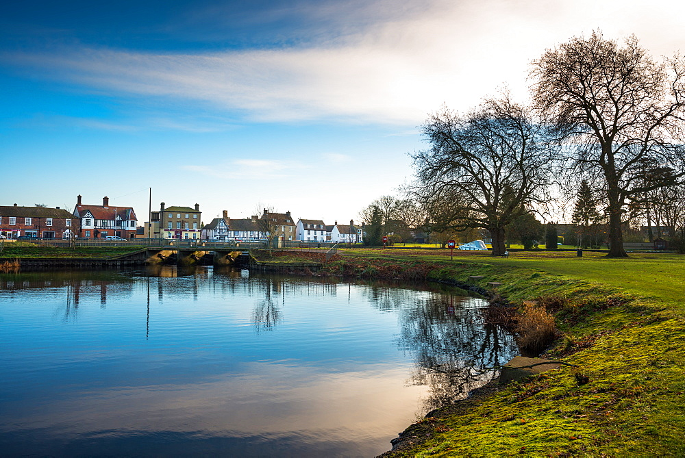 Still waters of the Causeway at Godmanchester, Cambridgeshire, England, United Kingdom, Europe