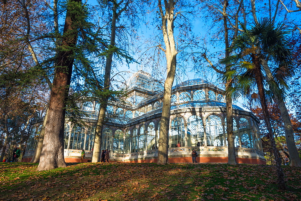 Crystal Palace in Retiro Park, Madrid, Spain, Europe
