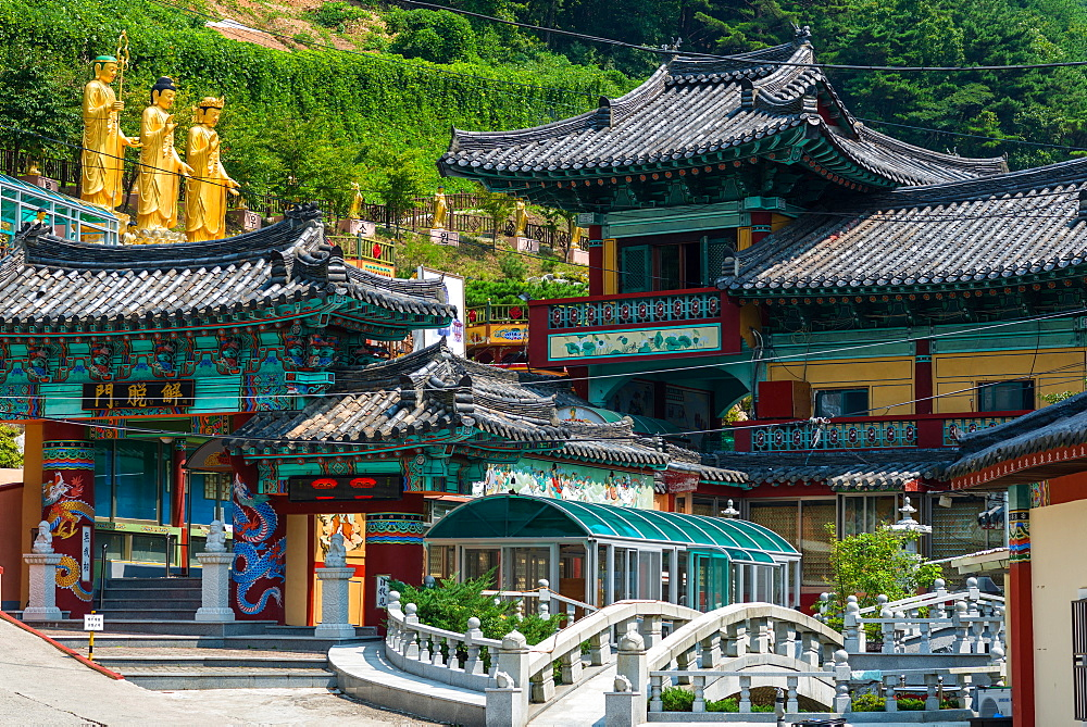 Buddhist temple in Busan, South Korea.