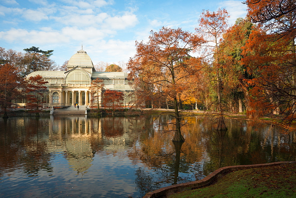 Crystal Palace in the Buen Retiro Park, Madrid, Spain, Europe