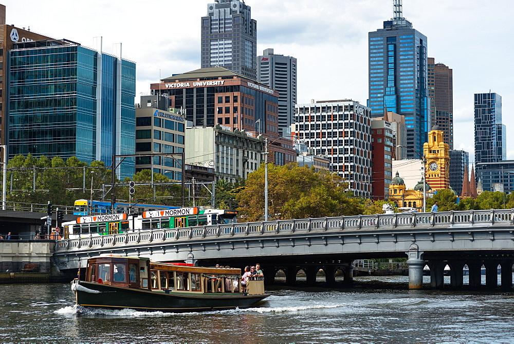 Boat, tram and train, Melbourne, Victoria, Australia, Pacific
