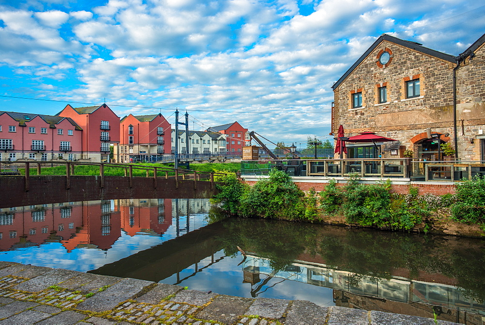The Quay (Quayside) in Exeter in early morning, Exeter, Devon, England, United Kingdom, Europe - 1267-438
