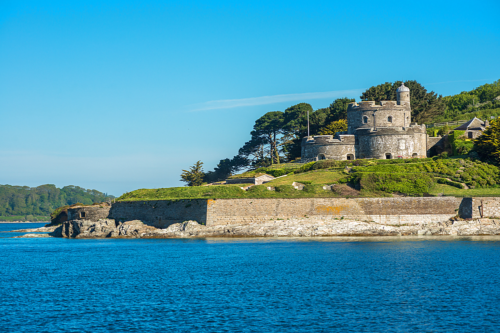 St. Mawes Castle, an artillery fort constructed by King Henry VIII near Falmouth, Cornwall, England, United Kingdom, Europe