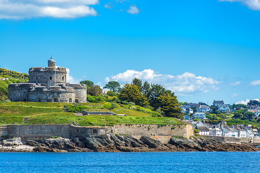 St. Mawes Castle, an artillery fort constructed by Henry VIII near Falmouth, Cornwall, England, United Kingdom, Europe - 1267-465