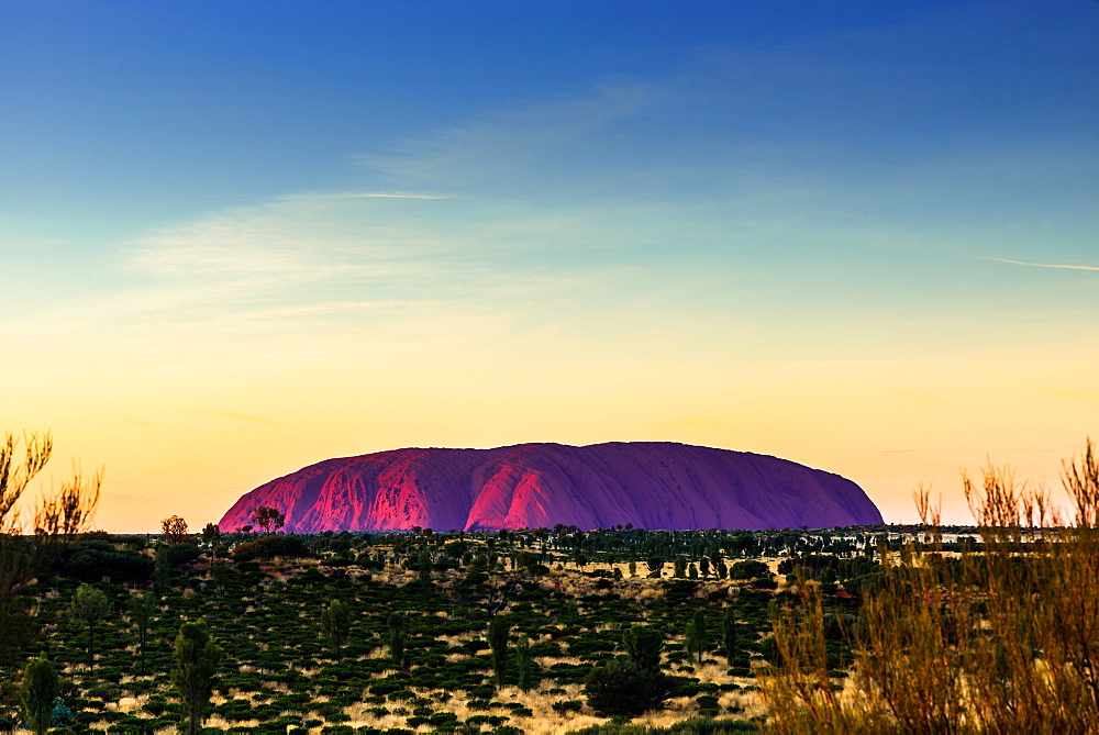 Uluru (Ayers Rock) at sunrise. Central Australia.