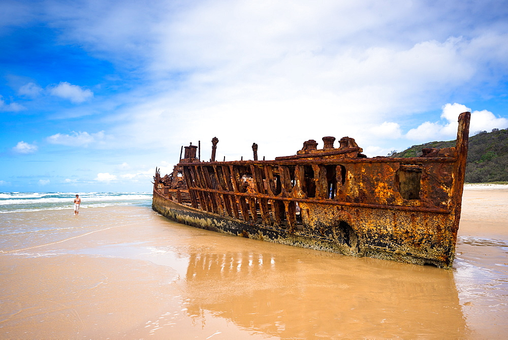 Maheno Shipwreck, Fraser Island, UNESCO World Heritage Site, Queensland, Australia, Pacific