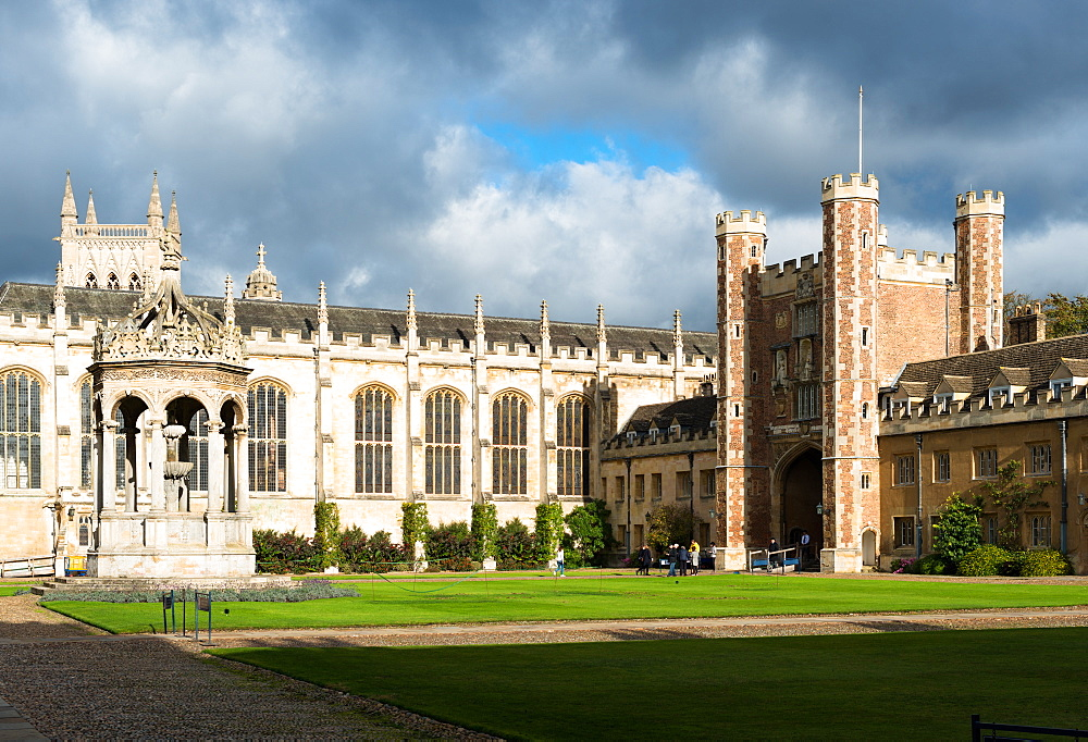 Trinity Great Court, Trinity College, University of Cambridge, Cambridge, Cambridgeshire, England, United Kingdom, Europe